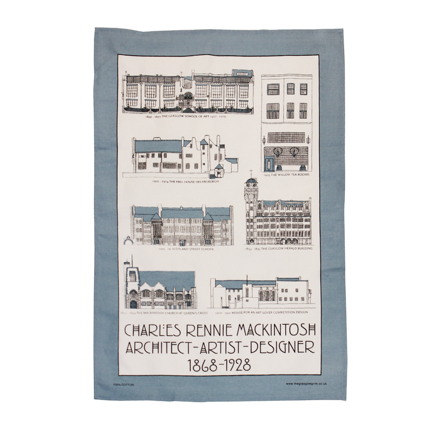 Mackintosh Buildings Tea Towel
