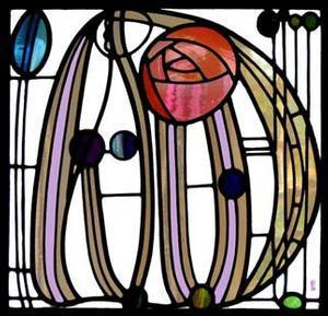 Mackintosh Stained Glass Window Art
