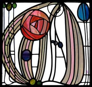 Mackintosh Stained Glass Window Art -