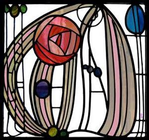 Mackintosh Stained Glass Window Art -