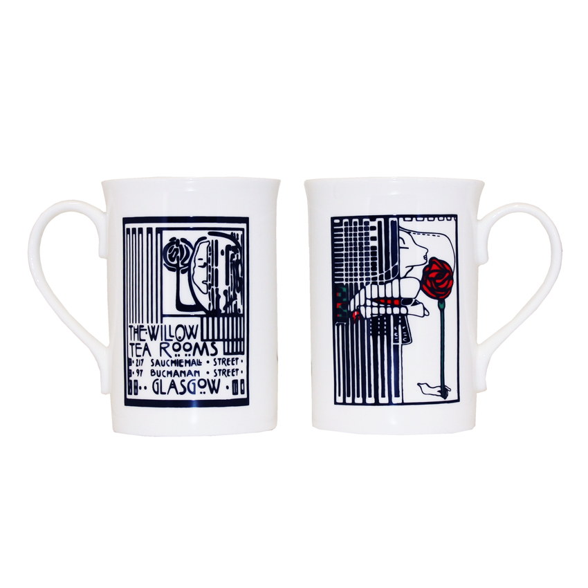 Willow Tearooms Lady and Rose Mug