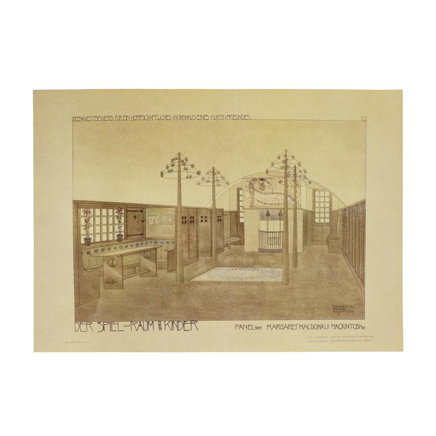 House for an Art Lover Nursery Print